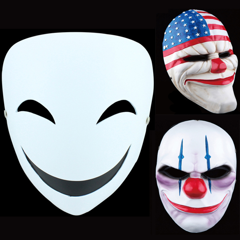 PAYDAY2 Party Mask Stereoscopic Effect Halloween Masquerade Cosplay Full Face Mask For Adult