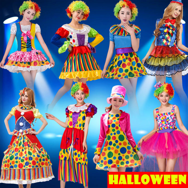 Masquerade Party Costumes Circus Clown Cosplay Dress For Women