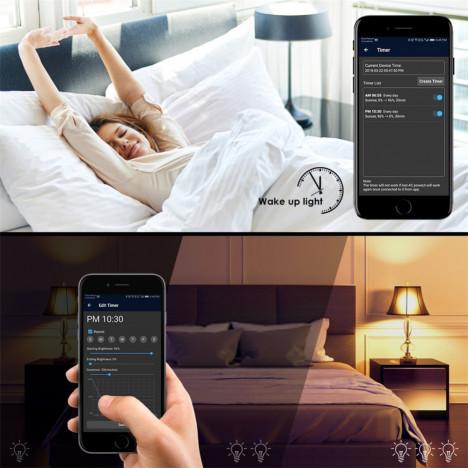 E27 Smart Bulb Wireless WiFi App Remote Control Light for Alexa Google Home