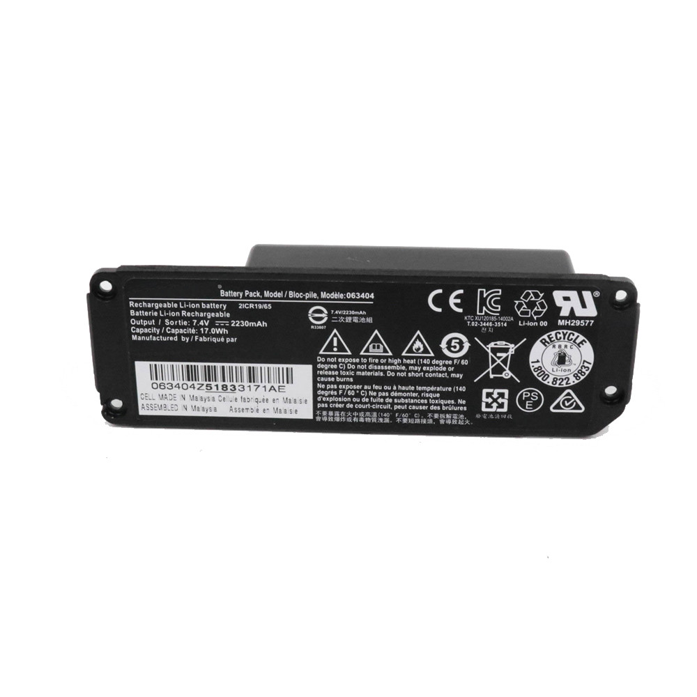 63404 Battery 2230mAH/17Wh 7.4V Pack for Soundlink Mini Battery Pack
