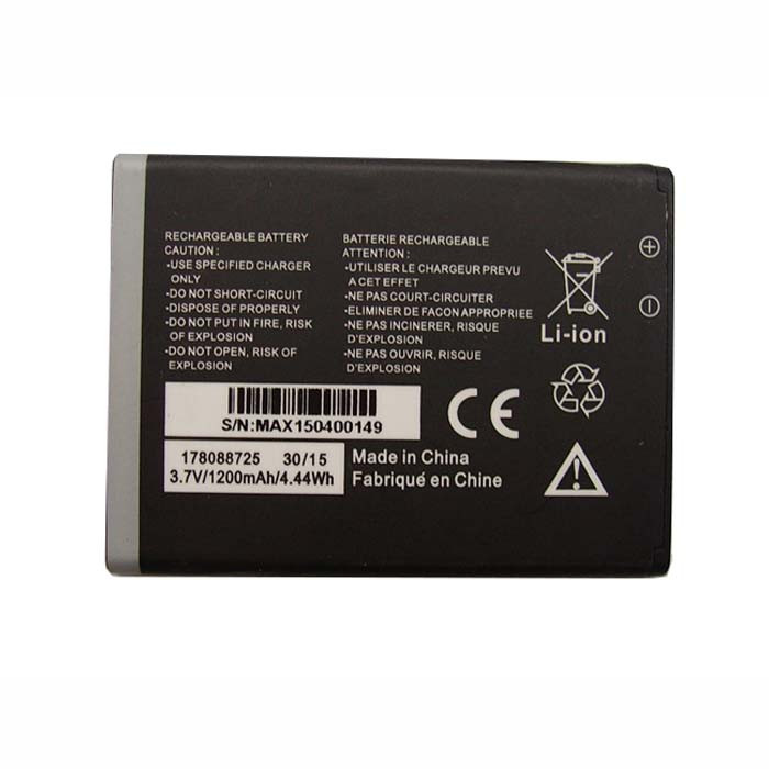 178088725 Battery 1200MAh/4.44Wh 3.7V Pack for  MobiWire 178088725 Phone panels