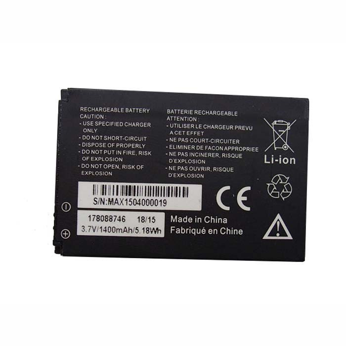 178088746 Battery 1400mAh/5.18Wh 3.7DVC Pack for MobiWire 3.7V 1400MAh 5.18Wh Phone panels