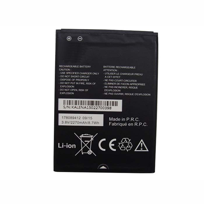 178089412 Battery 2270mAh/8.7Wh 3.8V Pack for MobiWire 178089412 Phone panels