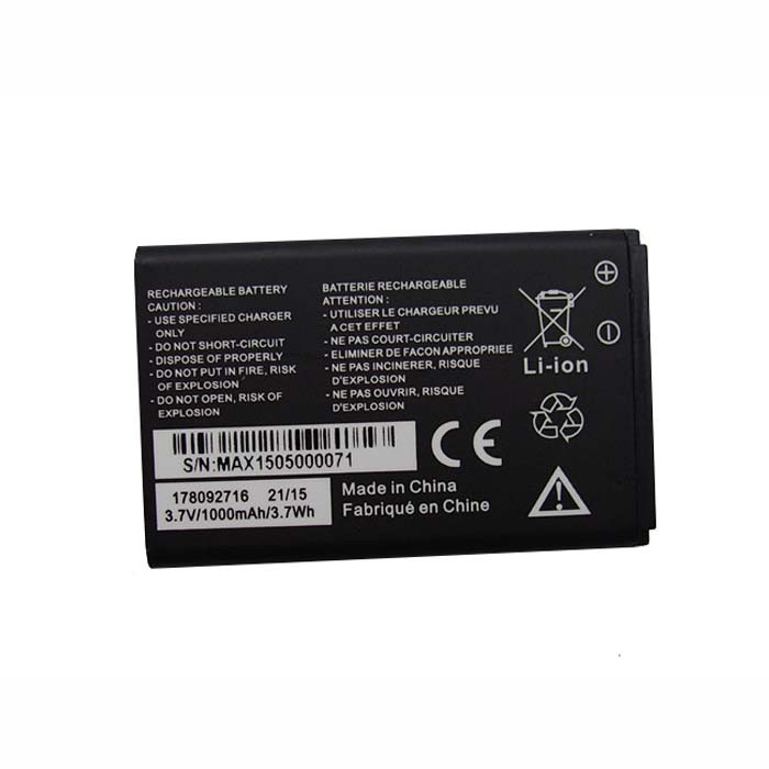 178092716 Battery 1000MAh/3.7Wh 3.7V Pack for MobiWire 178092716 Phone panels