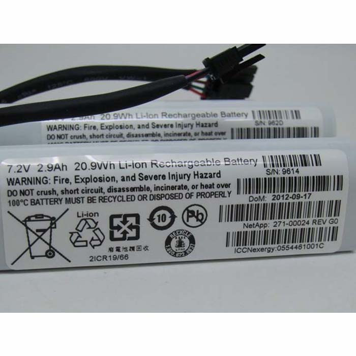 271-00024  Battery 18.5Wh 7.4V 2.5Ah Pack for Net App ES3242 Rev E0 7.4V 2.5Ah 18.5Wh 2Cells