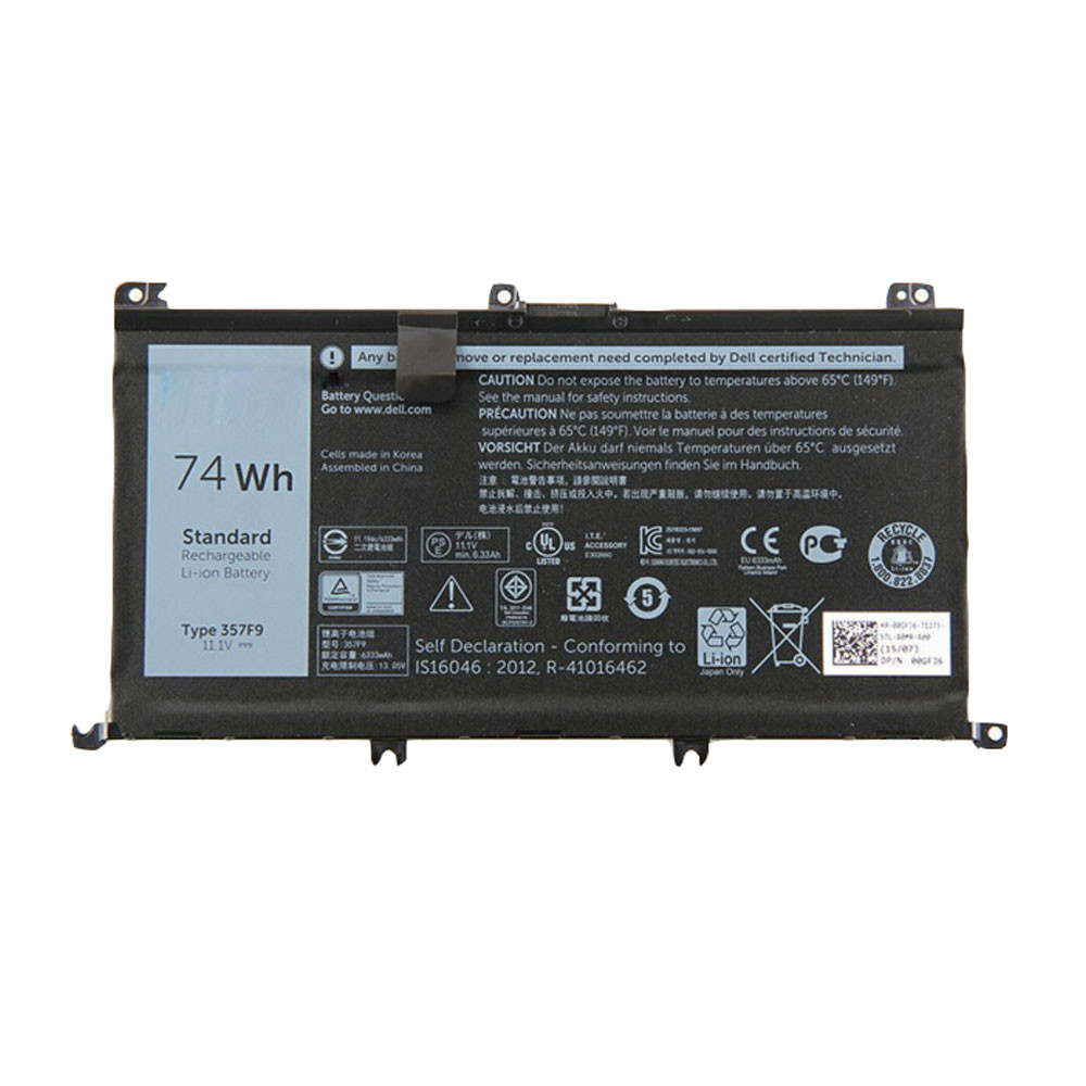 357F9 Battery 74Wh 11.1V/11.4V Pack for Dell Inspiron 15 7559 7000 INS15PD-1548R
