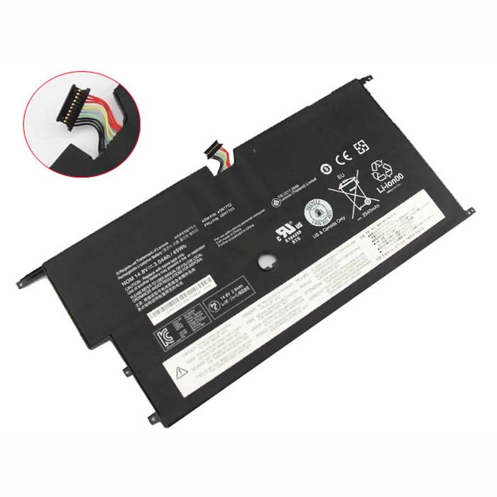 45N1702 45N1703 Battery 3.04AH/45WH 14.8V Pack for Lenovo ThinkPad New X1 Carbon 14 Series