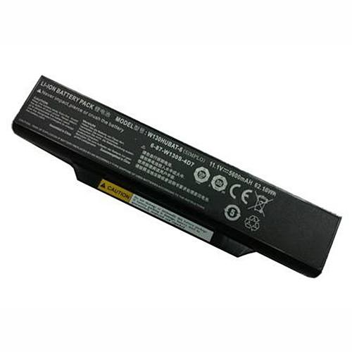 6-87-W130S-4D7 Battery 5600mah/6cell 11.1V Pack for Clevo W130HUBAT-6