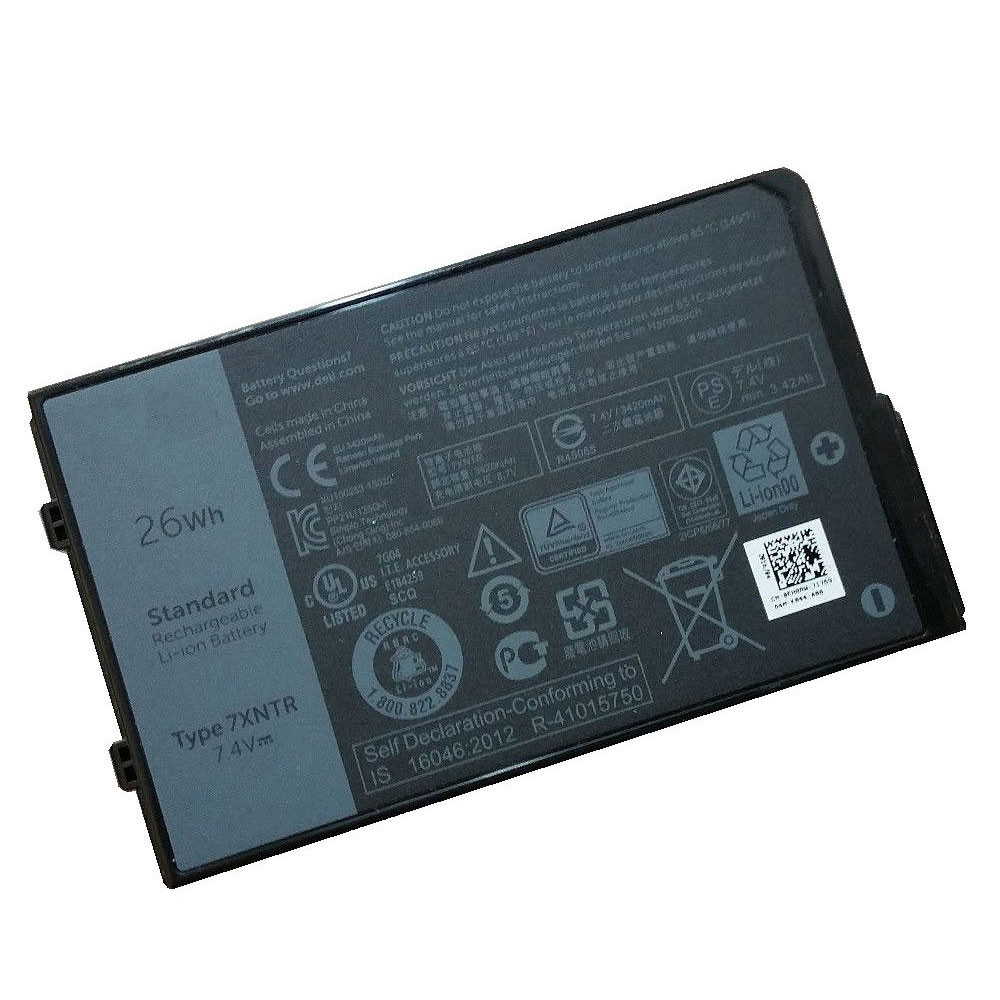 7XNTR Battery 26Wh 7.4V Pack for Dell Latitude 12 7202 Rugged Tablet Series