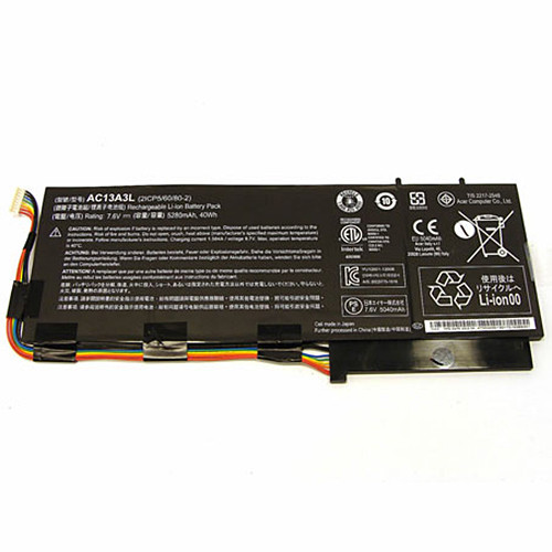 AC13A3L Battery 5280MAH/40WH 7.6V Pack for ACER ASPIRE P3-171 11.6
