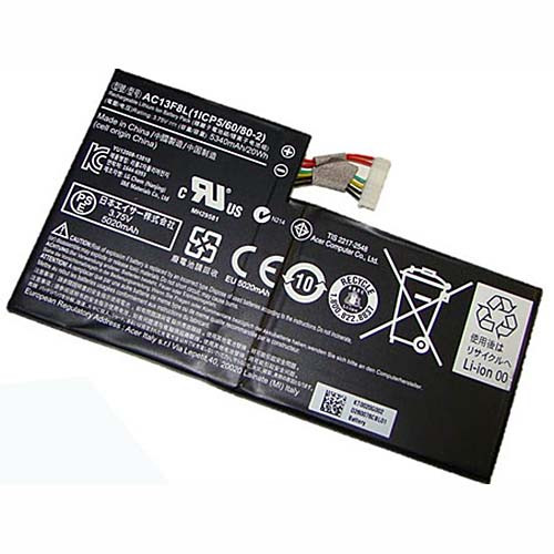 AC13F8L Battery 5340mah/20wh 3.75V Pack for Acer Iconia Tab A1-A810 Tablet Battery AC13F3L 1ICP5/60/80-2