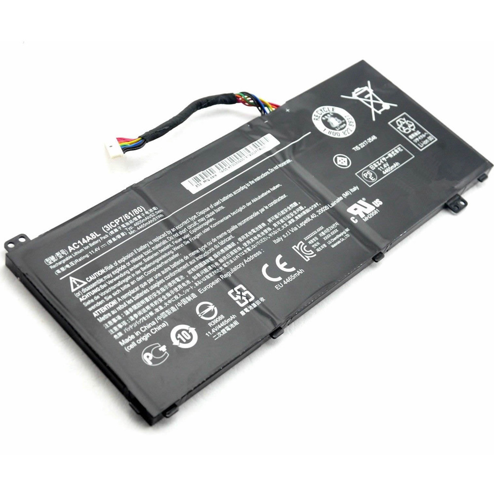 AC14A8L Battery 52.5Wh 11.4V Pack for Acer V15 Nitro Aspire VN7-571 VN7-591 VN7-791