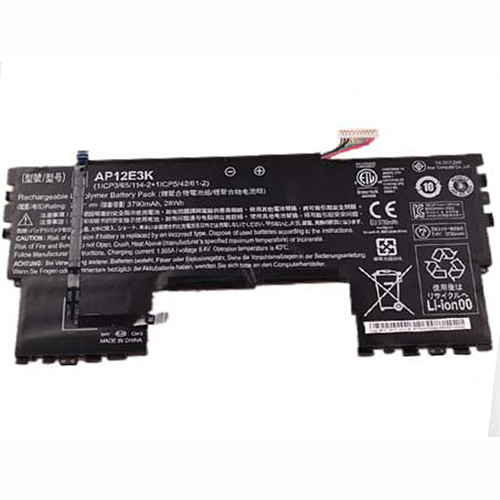 AP12E3K Battery 3790mah 7.4V Pack for ACER Aspire S7 191 Ultrabook 11-inch 11CP5/42/61-2