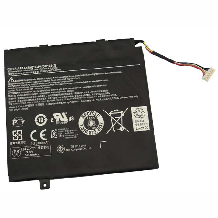 AP14A8M Battery 5910mAh/22.46wh 3.8V Pack for Acer Aspire Switch 10 SW5-011 SW5-012 10-inch Tablet