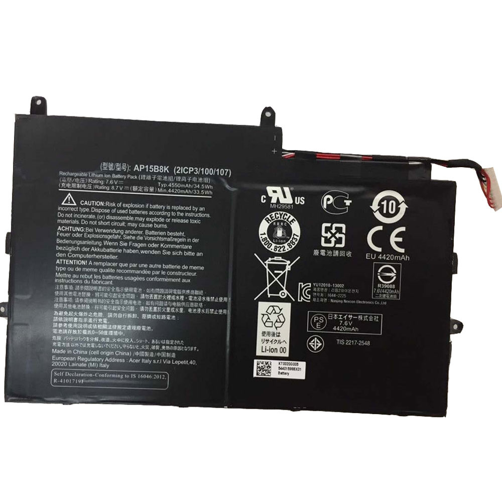 AP15B8K Battery 4550Wh/34.5Wh 7.6V Pack for Acer Aspire Switch 11 SW5-173 SW5-173P series