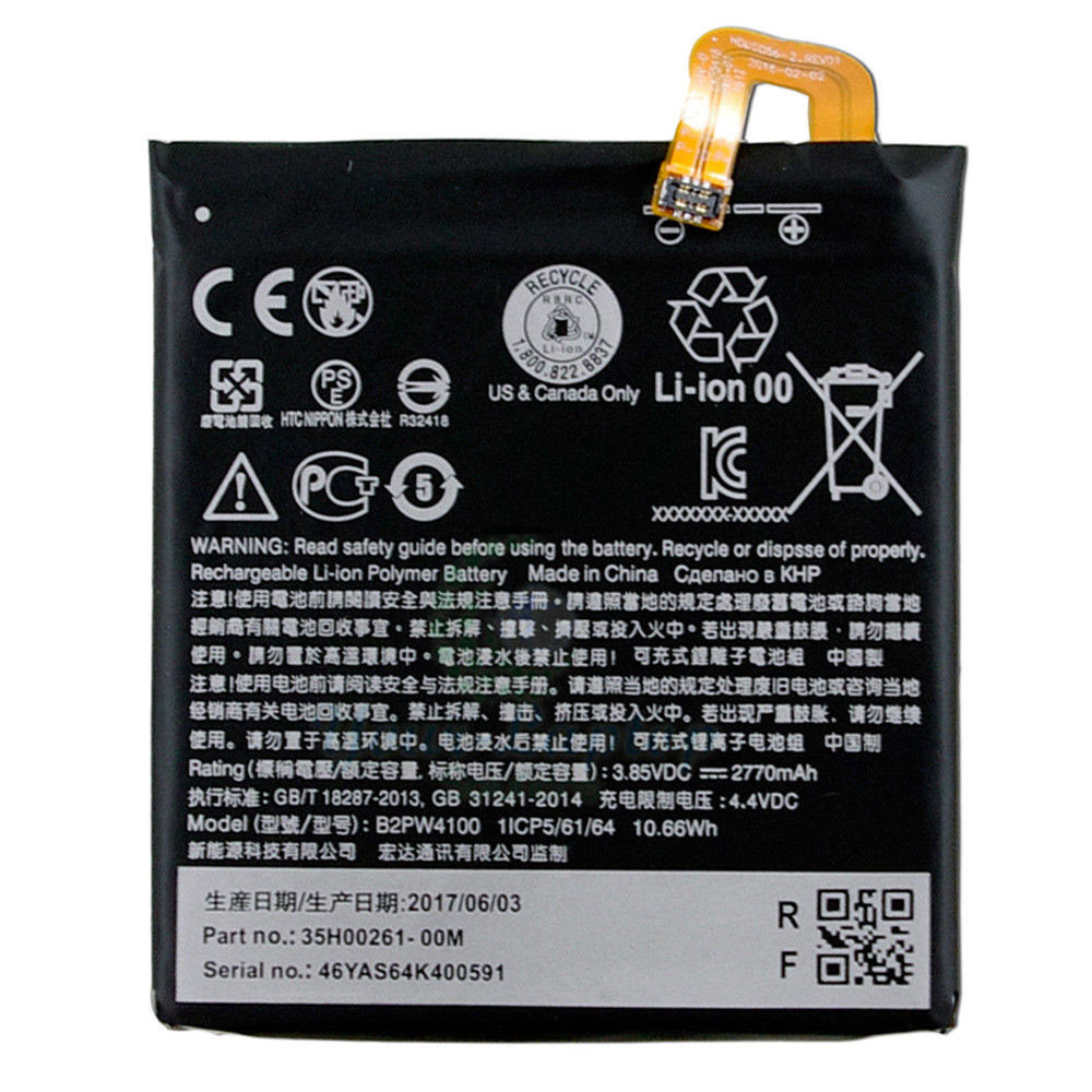 B2PW4100 Battery 2770mah 3.85V Pack for HTC Google Pixel 5