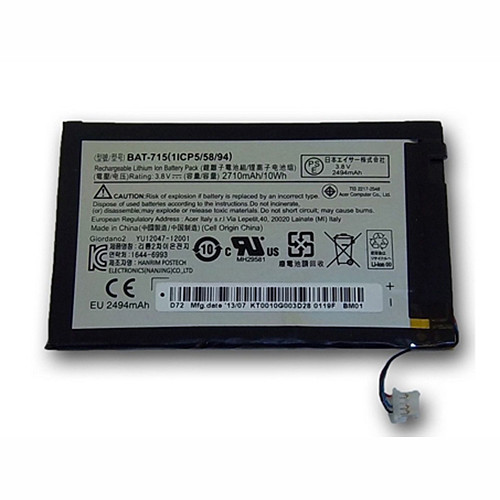 BAT-715 Battery 2710MAH/10WH 3.7V Pack for Acer Iconia Tab B1 B1-A71 Tablet Battery