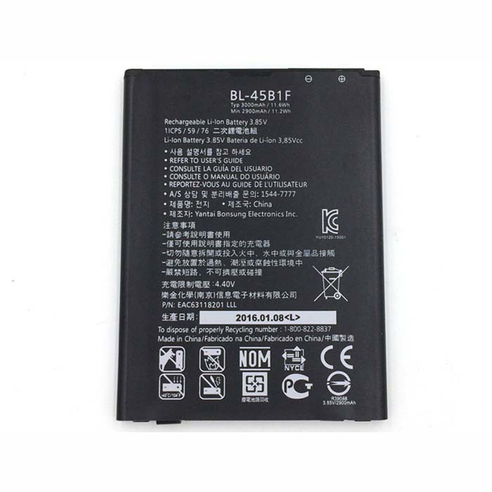 BL-45B1F Battery 3000mAh 3.8V Pack for LG V10 H961N F600 H968