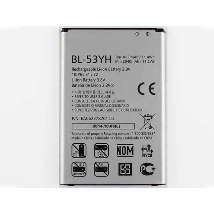 BL-53YH Battery 3000mAh 3.8DVC Pack for LG G3 D850 D855 VS985 F400