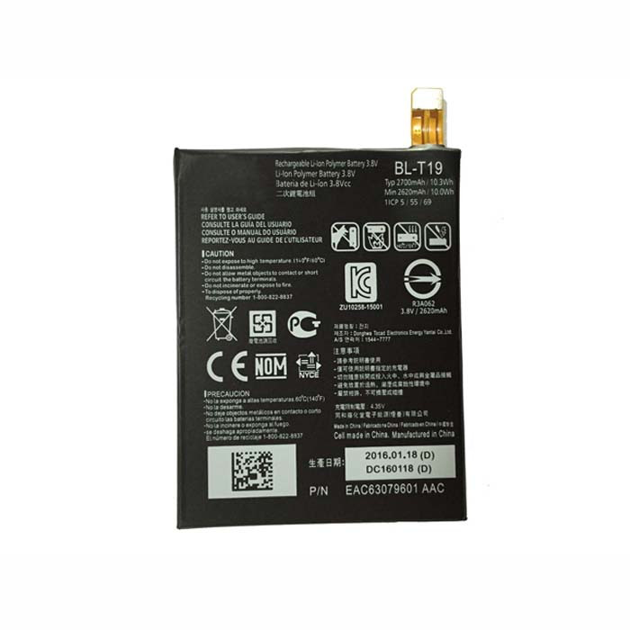 BL-T19 Battery 10.3WH 3.8V Pack for LG H791 H798 H790 Google Nexus 5X L-T19 BLT19