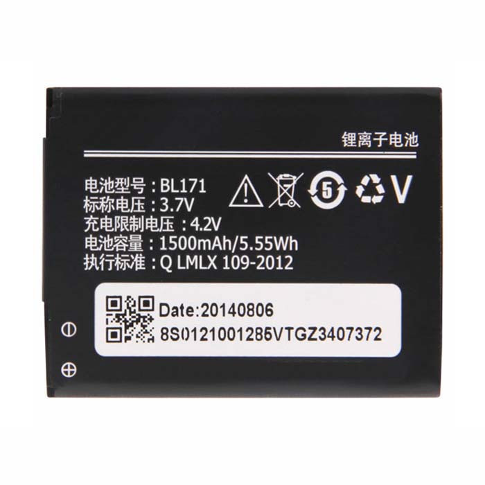BL171 Battery 1500mah/5.55wh 3.7V Pack for Lenovo A60  A65  A500  A356  A376  A390  A390T  A370E