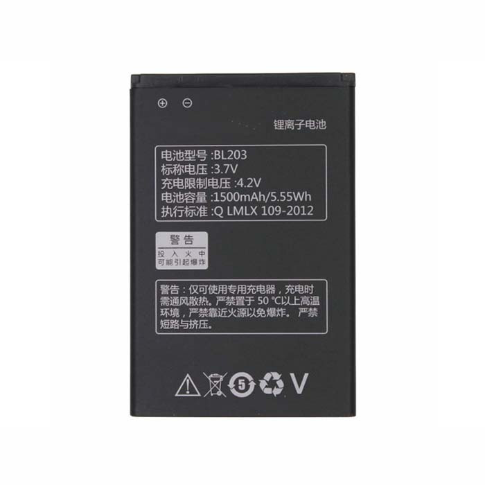 BL203 Battery 1500mah/5.55WH 3.7V Pack for Lenovo A278T A365E A308T A369 A66 A318T