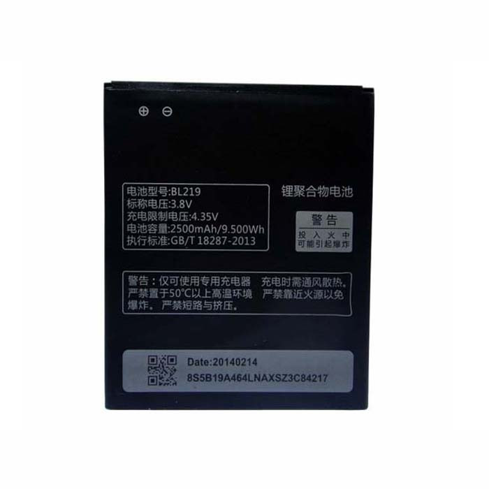 BL219 Battery 2500mAh/9.50Wh 3.8V Pack for Lenovo Smartphone A850+ A916 A880 A889 S856