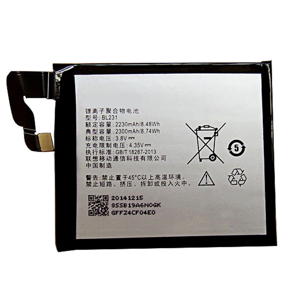 BL231 Battery 3000mah 3.8V/4.35V Pack for Lenovo Vibe X2 X2-TO X2-CU