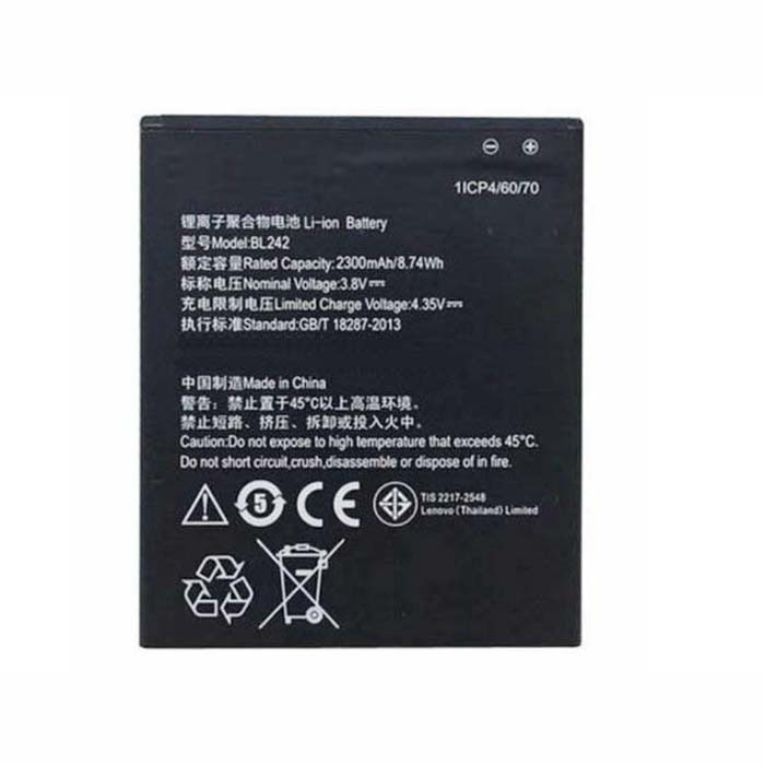 BL242 Battery 2300mAh/8.74WH 4.35V Pack for Lenovo A6000/ A6000 Plus & Lemo K3 K3-W K3-T