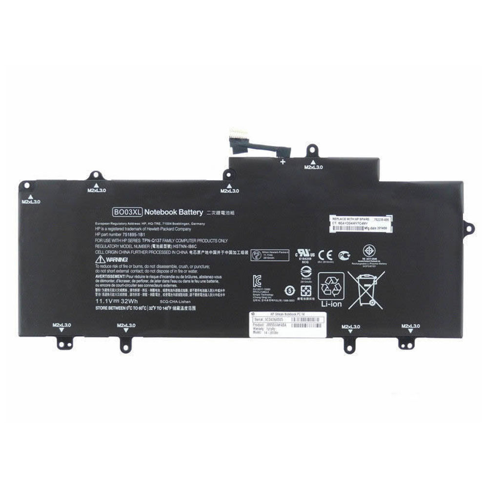 BO03XL Battery 32Wh 11.1V Pack for HP TPN-Q137 751895-1C1 752235-005 Series