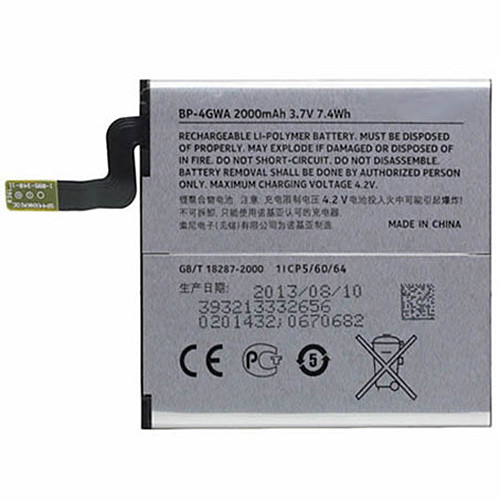 BP-4GWA Battery 2000mAh/7.4Wh 3.7V Pack for Nokia Lumia 625 Lumia 720 BP-4GWA +Tools