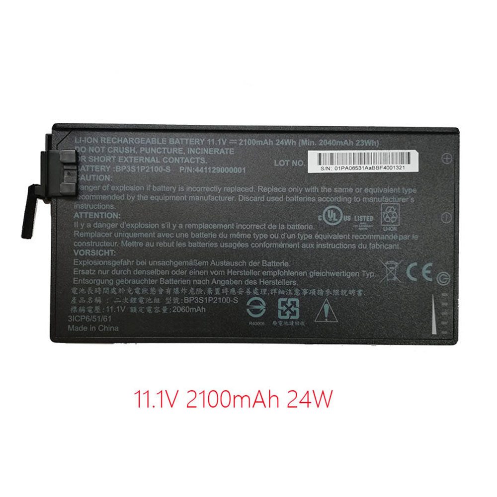 BP3S1P2100-S Battery 24Wh/2100mAh 11.1V Pack for Getac V110 Rugged