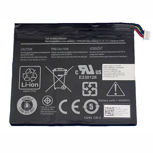 BTYGAL1 TO3G 0KGNX1 Battery 23WH 11.1V Pack for DELL BTYGAL1 TO3G 0KGNX1
