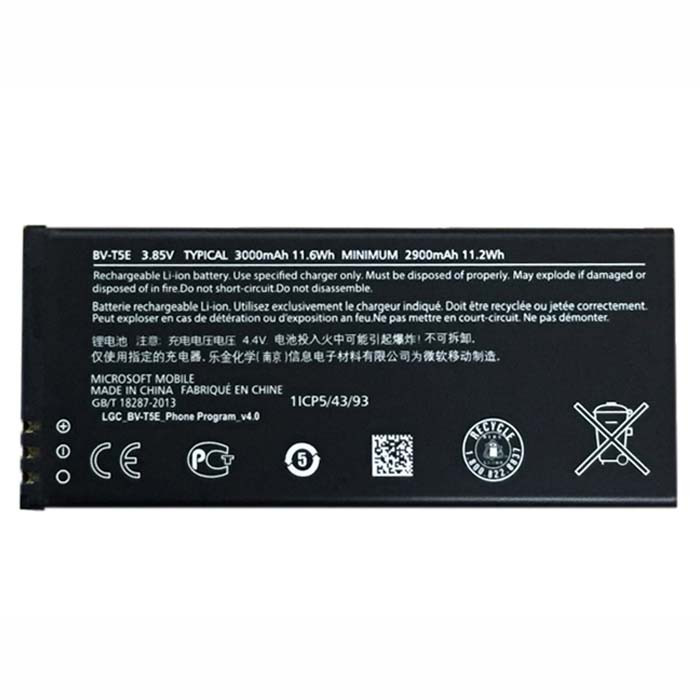BV-T5E Battery 3000mAh/11.6wh 3.85V Pack for Microsoft Lumia 950 RM-1106 RM-1104 RM-110 McLa
