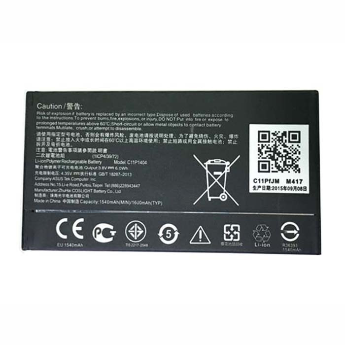 C11P1404 Battery 1540mAh 3.8V Pack for ASUS Zenfone 4 A400CG