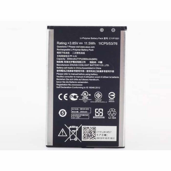 C11P1501 Battery 3000mah/11.5wh 3.85 V-4.4V Pack for ASUS ZE500CL ZE551KL ZE601KL ZenFone 2