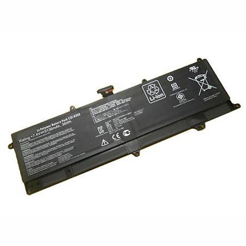 C21-X202 Battery 5136mAh/38Wh 7.4V Pack for Asus VivoBook S200E X202E X201E