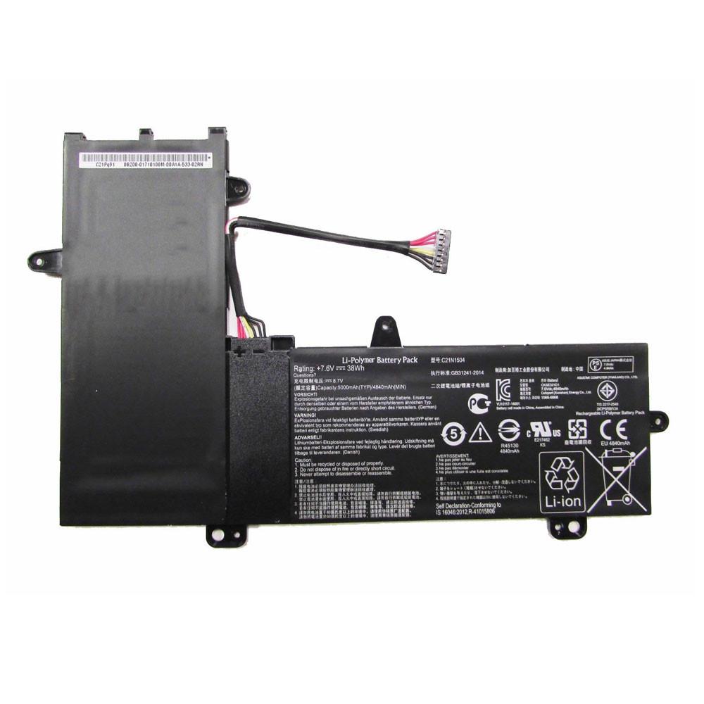 C21N1504 Battery 38Wh  5000mAh / 4840mAh 7.6V Pack for Asus Transformer Book Flip TP200SA Series