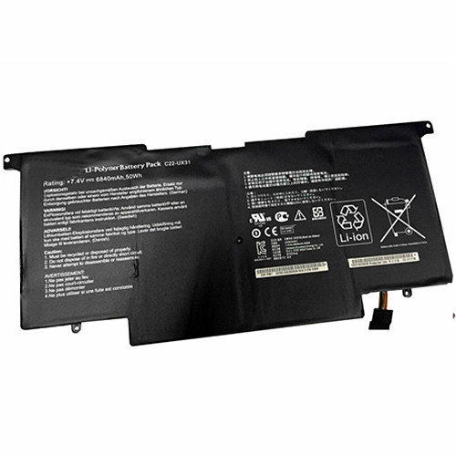 C22-UX31 Battery 6840mAh 7.4V Pack for ASUS UX31 UX31E Ultrabook Series