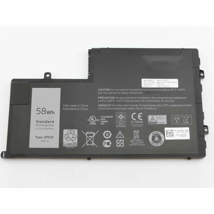 0PD19 1V2F6  Battery 58Wh/7600mAh 7.4V Pack for Dell Inspiron 15 5445 5448