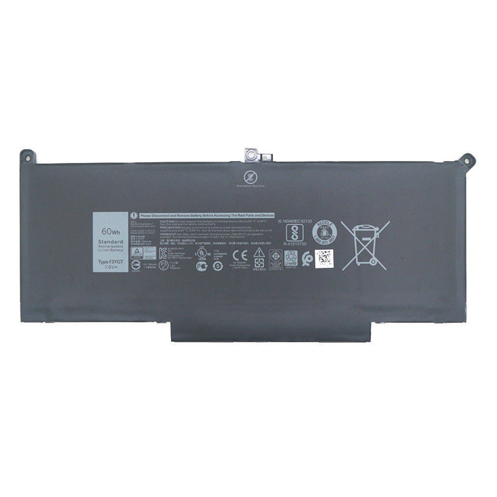 F3YG Battery 60Wh 7.6V Pack for Dell Latitude 12 7000 7280 7480 DM6WC 2X39G