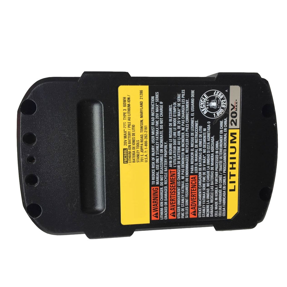 FMC686L Battery 3000mAh 60WH 20V Pack for Stanley FatMax