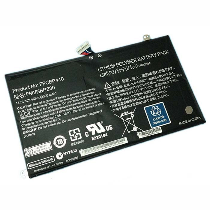 FPCBP410 FMVNBP230 Battery 3300mAh/48Wh 14.8V Pack for Fujitsu LifeBook UH574