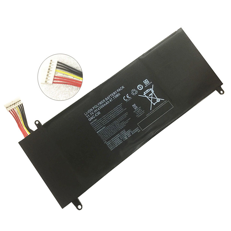 GNC-C30 Battery 4300mAh/47.73Wh 10.8/11.1V Pack for GIGABYTE U2442 U24F P34G V2