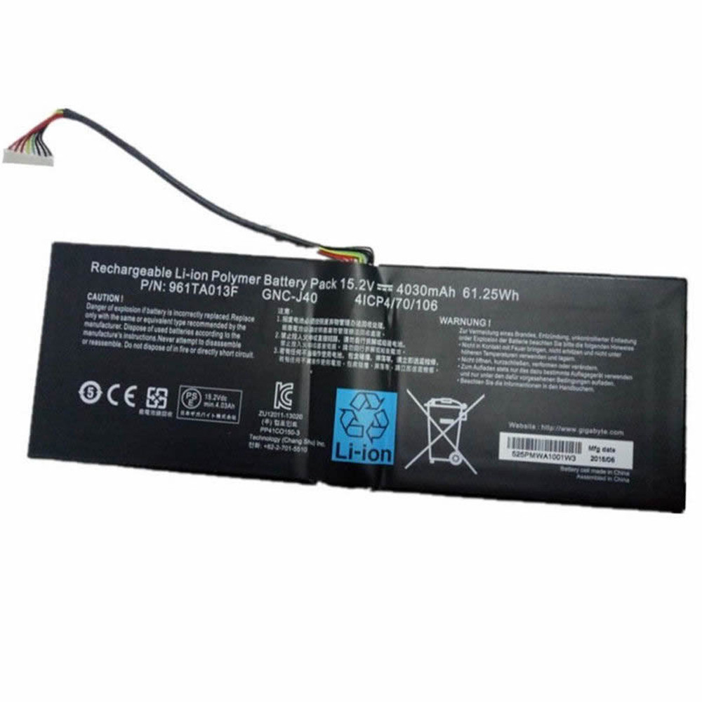 GNC-J40 Replacement laptop battery for GIGABYTE GNC-J40 961TA013F Gaming