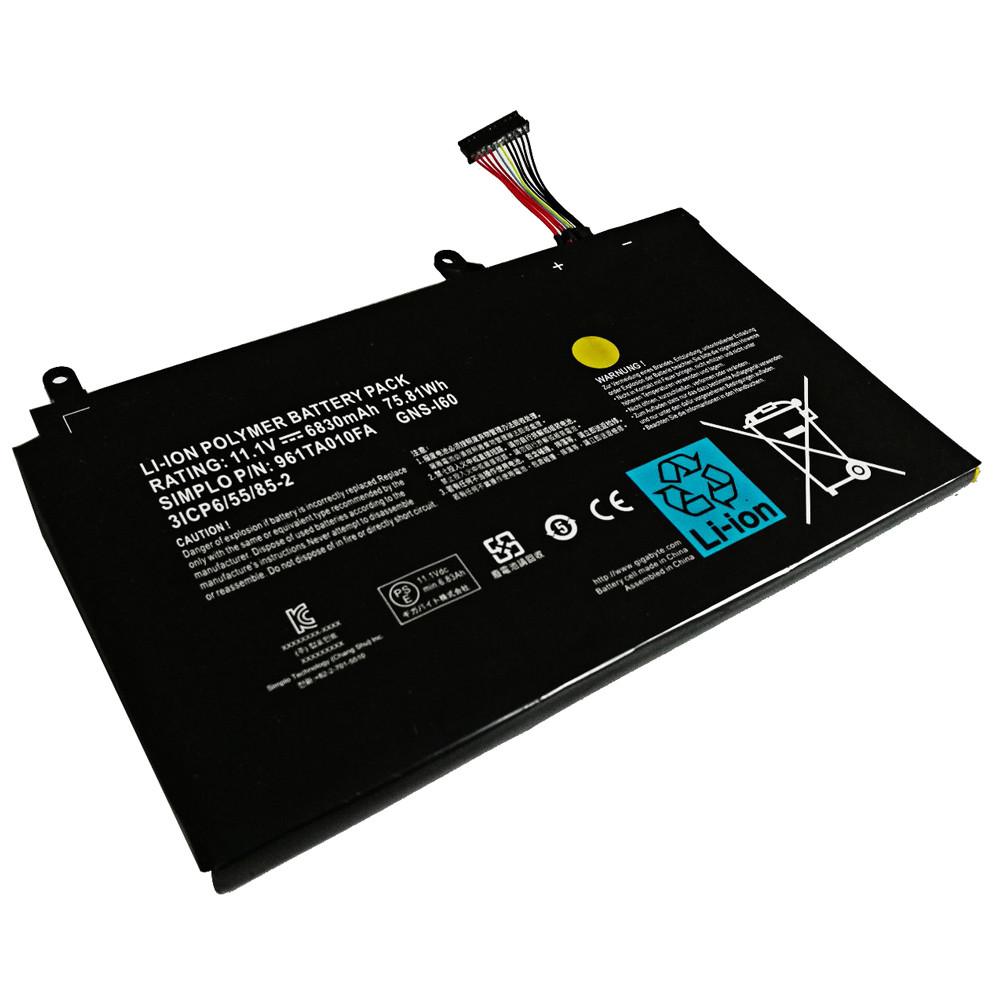 GNS-I60 Battery 6830mAh/75.81Wh 11.1V Pack for Gigabyte P35N P35W P35X P37K P37X P57X P35G P57W
