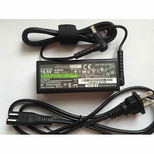 SONY VGP-AC19V47 19.5V 2A AC Adapter for Sony Vaio SVE11 SVE1135CXB Ultrabook 19.5V ~ 2A 40W