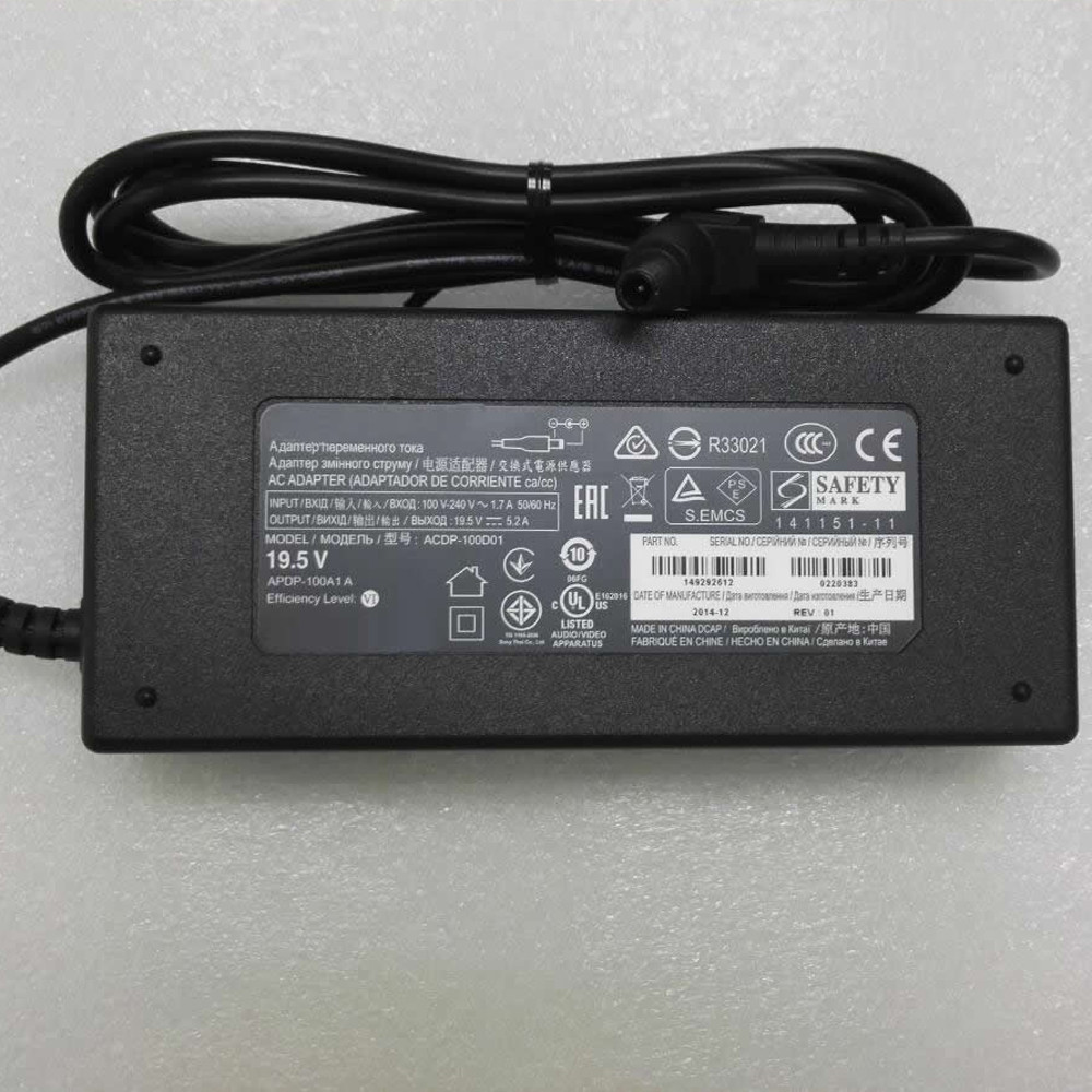 SONY ACDP-100D01 AC Adapter for Sony Vaio PCGA AC19V4 ACDP-100D01 19.5V ~ 5.2A    100Watt