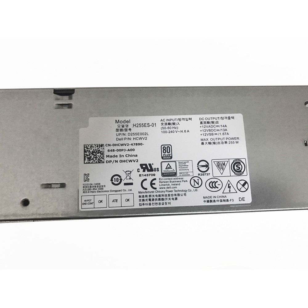DELL HCWV2 AC Adapter for Dell Optiplex 3020 7020 9020 SFF +12VADC==/14A