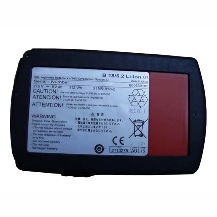 2116092 Battery 5.2 Ah/112wh 21.6V Pack for Hilti 2116092 B18/5.2